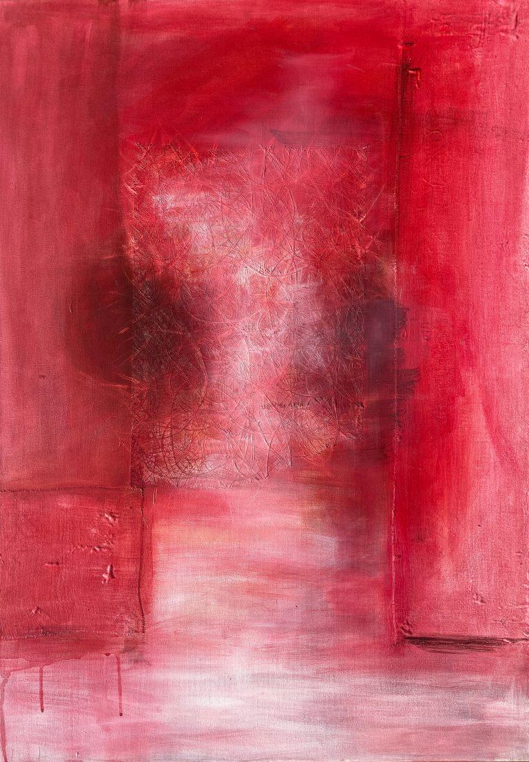cocooned, 2011 Acryl auf Leinwand, Baumwolle, 70 x 100 cm
