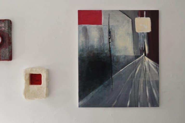 untitled, 2012 Acryl und Öl auf Leinwand, Baumwolle, 100 x 119 cm