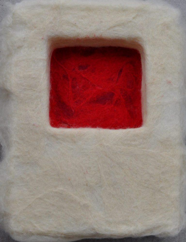 untitled, 2012 Filz, Styrodur, 26 x 35 x 10cm